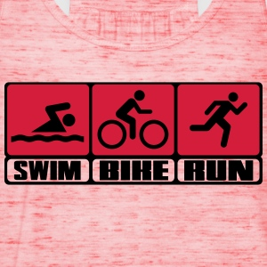 Triathlon - Swim, Bike, Run Camisetas - Camiseta de tirantes mujer, de Bella