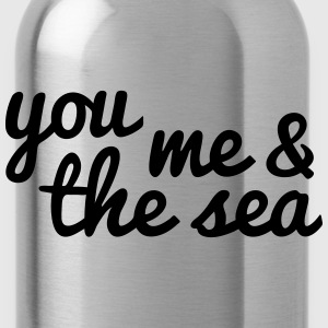 you, me and the sea u, mij en de zee Tassen & rugzakken - Drinkfles