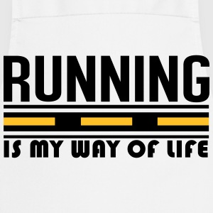 Running is my way of life T-shirts - Forklæde