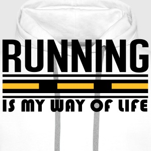 Running is my way of life T-Shirts - Men's Premium Hoodie