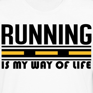 Running is my way of life T-shirts - Herre premium T-shirt med lange ærmer