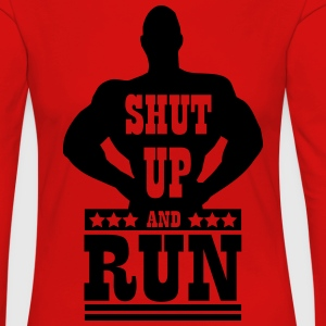Shut up and run T-shirts - Dame premium T-shirt med lange ærmer