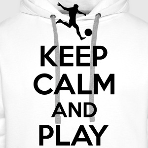 Keep calm and play T-shirts - Premiumluvtröja herr
