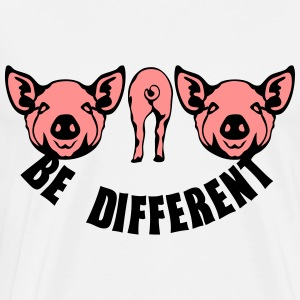 cochon be different pig 1 Sweat-shirts - T-shirt Premium Homme