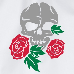 Weiß skull and rose Tassen - Turnbeutel