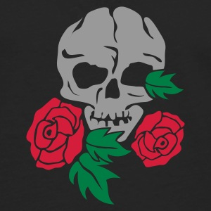 Svart skull and rose Paraply - Premium langermet T-skjorte for menn
