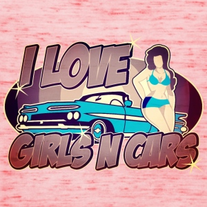 Digitalstoff Pinup-Girls: I love girls ´n cars Shirts - Vrouwen tank top van Bella