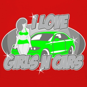 Digitalstoff Pinup-Girls: I love girls ´n cars Shirts - Women's Premium Longsleeve Shirt