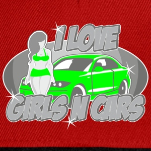 Digitalstoff Pinup-Girls: I love girls ´n cars Tee shirts - Casquette snapback