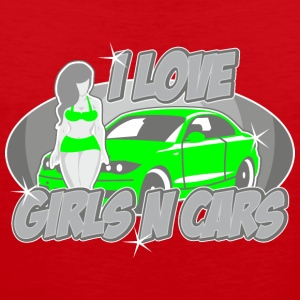 Digitalstoff Pinup-Girls: I love girls ´n cars Skjorter - Premium singlet for menn
