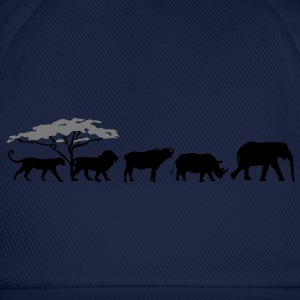 Big Five in the savanna  T-Shirts - Baseball Cap
