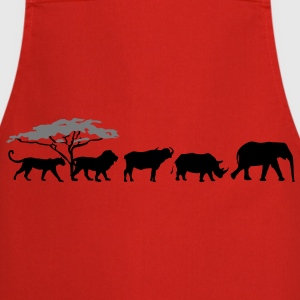 Big Five in der Savanne Shirt - Kochschürze