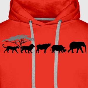 Big Five in der Savanne Shirt - Männer Premium Hoodie