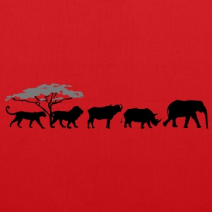 Big Five in the savanna  T-Shirts - Tote Bag