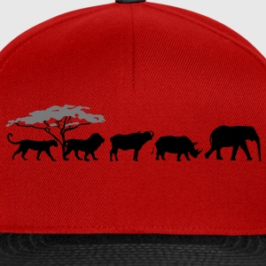 Big Five in der Savanne Shirt - Snapback Cap