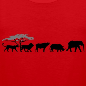 Big Five in the savanna  T-Shirts - Men's Premium Tank Top