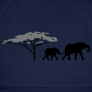 Elephants in the savannah  T-Shirts - Baseball Cap