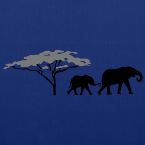 Elephants in the savannah  T-Shirts - Tote Bag