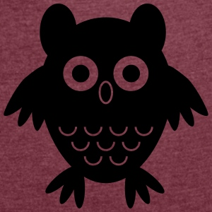 My friend the owl - Women's T-shirt with rolled up sleeves