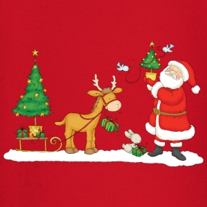 Santa Claus with Reindeer - Baby Long Sleeve T-Shirt