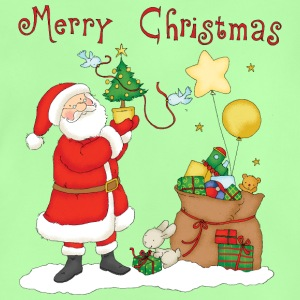 Santa Claus with bag of gifts - Baby-T-shirt