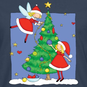 Christmas Angels decorating tree - Men's Premium Longsleeve Shirt