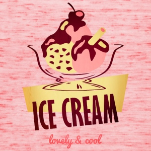 lecker Eiscreme - lovely and cool T-shirts - Dame tanktop fra Bella