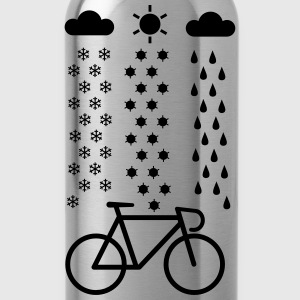 Cycling In All Seasons T-Shirt - Water Bottle