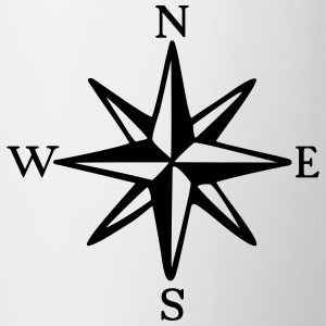 Compass Rose with Cardinal Points (monochrome) T-Shirts - Mug
