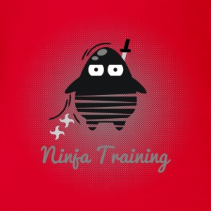 Die Digi-Fitties: Ninja-Training T-Shirts - Baby Bio-Kurzarm-Body