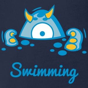 Die Digi-Fitties: Schwimmen T-Shirts - Baby Bio-Kurzarm-Body