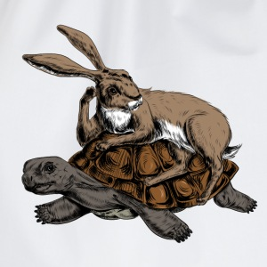Hare and Tortoise T-Shirts - Turnbeutel