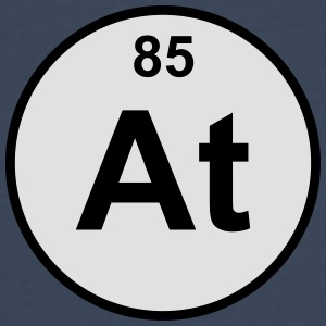 Element 85 - at (astatine) - Minimal-color Bamse - Premium langermet T-skjorte for menn