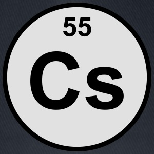 Element 55 - cs (caesium) - Minimal-color Teddybjörn - Flexfit basebollkeps