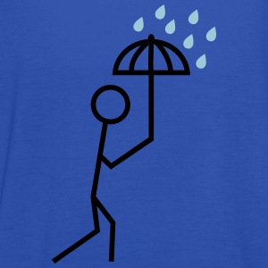 man in the rain with umbrella mand i regnen med paraply T-shirts - Dame tanktop fra Bella