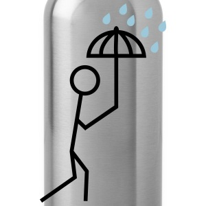 man in the rain with umbrella Shirts - Water Bottle
