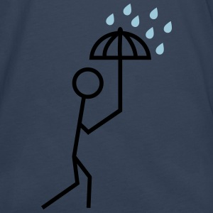 man in the rain with umbrella Shirts - Men's Premium Longsleeve Shirt