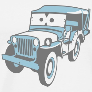 Kids Cars - altgedienter Jeep Sweatshirts - Herre premium T-shirt