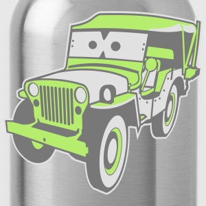 Kids Cars - altgedienter Jeep Shirts - Water Bottle