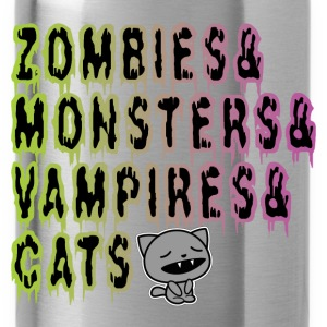 zombies...cats Tee shirts - Gourde