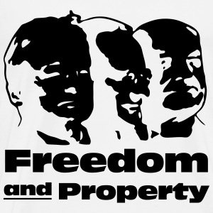 Freedom and Property Langarmshirts - Männer Premium T-Shirt