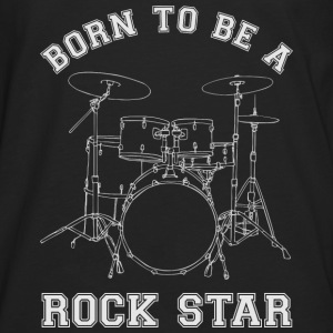 Born To Be A Rock Star Drums T-Shirts - Männer Premium Langarmshirt