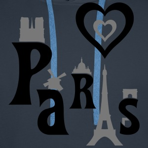 I Love Paris Tee shirts - Sweat-shirt à capuche Premium pour hommes