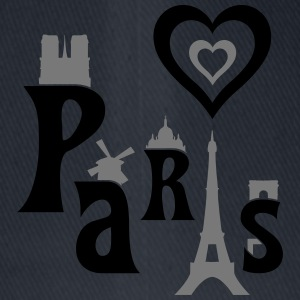 I Love Paris Camisetas - Gorra de béisbol Flexfit