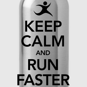 Keep Calm And Run Faster T-skjorter - Drikkeflaske