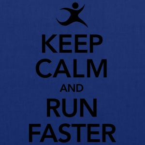 Keep Calm And Run Faster T-shirts - Tygväska