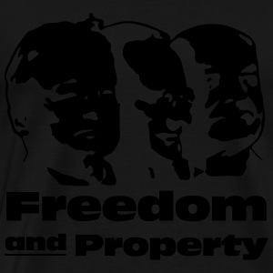 Freedom and Property - Hoodie - Männer Premium T-Shirt
