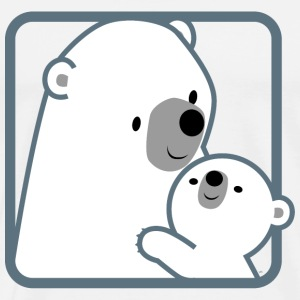 Polar Bear Mother and Child- Cheerful Madness!!  Aprons - Men's Premium T-Shirt