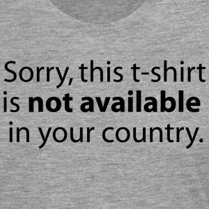 not available in your country T-shirts - Långärmad premium-T-shirt herr
