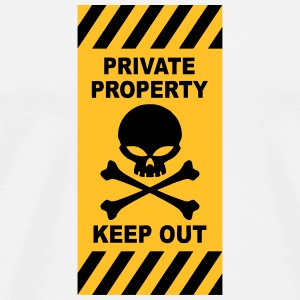 private property coque smartphone Handy & Tablet Hüllen - Männer Premium T-Shirt
